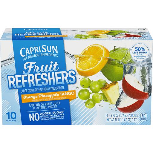 Capri Sun Fruit Refreshers Juice Drink Blend, Orange Pineapple Tango