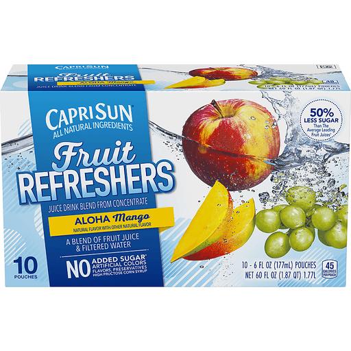CapriSun® Fruit Refreshers Aloha Mango Juice Drink 10-6 fl. oz. Pouches
