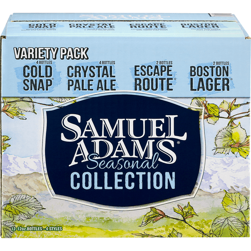 Samuel Adams Beer Winter Favorites Bottles - 12 CT