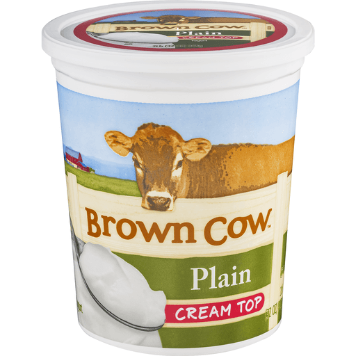 Brown Cow Yogurt, Cream Top, Plain