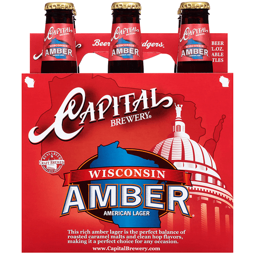 Capital Brewery® Wisconsin Amber® American Lager 6-12 fl. oz. Bottles