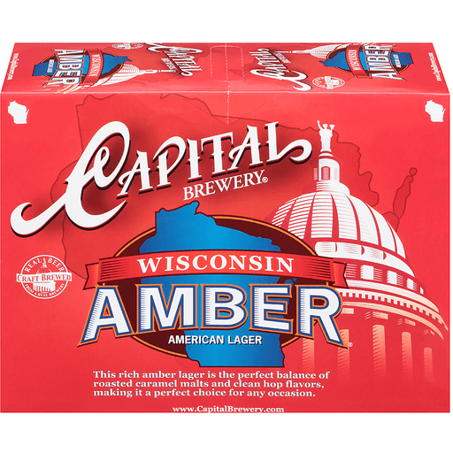 Capital Brewery® Wisconsin Amber® American Lager 12-12 fl. oz. Cans