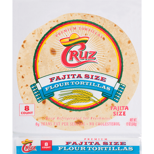 Cruz® Fajita Size Flour Tortillas 8 ct Bag