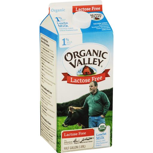 Organic Valley Milk, Lactose Free, Lowfat, 1% Milkfat