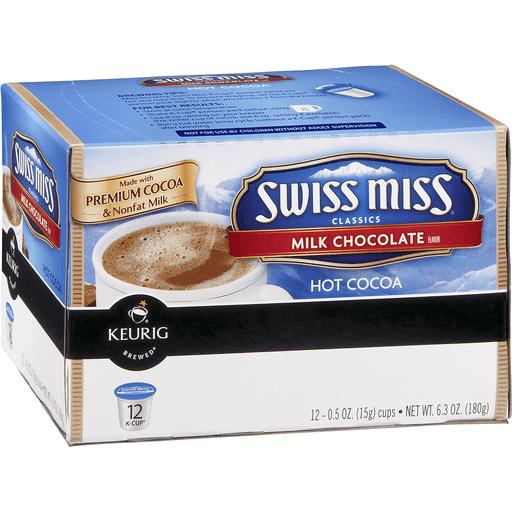 Swiss Miss Keurig Hot Classics Hot Cocoa, Milk Chocolate Flavor, K-Cup Pods
