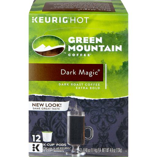 Green Mountain Coffee, Arabica, Dark Roast, Dark Magic, K-Cup Pods