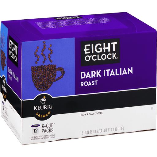 Eight O'Clock Dark Italian Roast Coffee K-Cup Packs - 12 CT