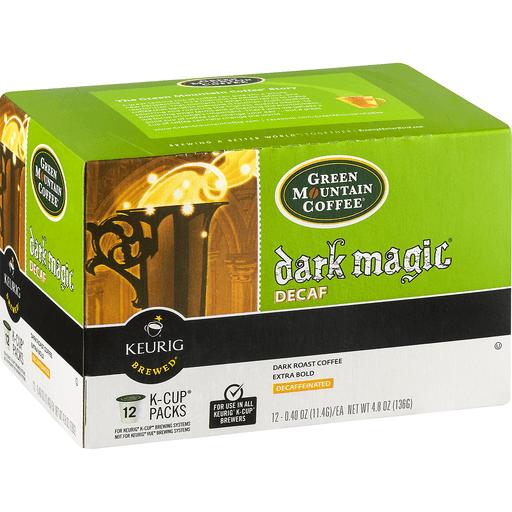 Green Mountain Keurig Hot Coffee, Dark Roast, Dark Magic, Decaf, K-Cup Pods