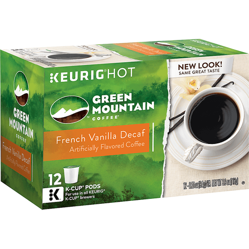 Green Mountain Keurig Hot Coffee, French Vanilla, Decaf, K-Cup Pods