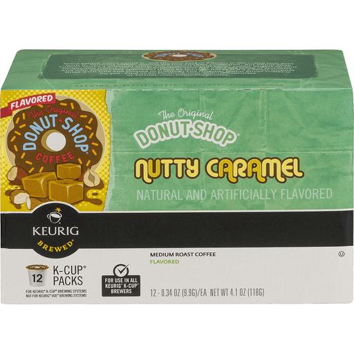 Donut Shop Coffee, Medium Roast, Nutty Caramel Flavored, K-Cup Packs