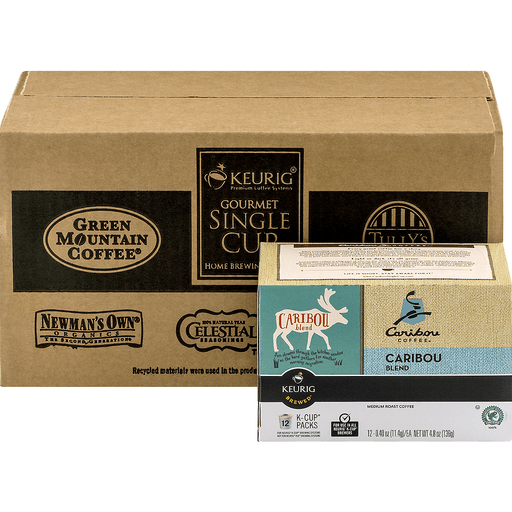 Caribou Coffee Keurig Hot Coffee, Medium Roast, Caribou Blend, K-Cup Pods