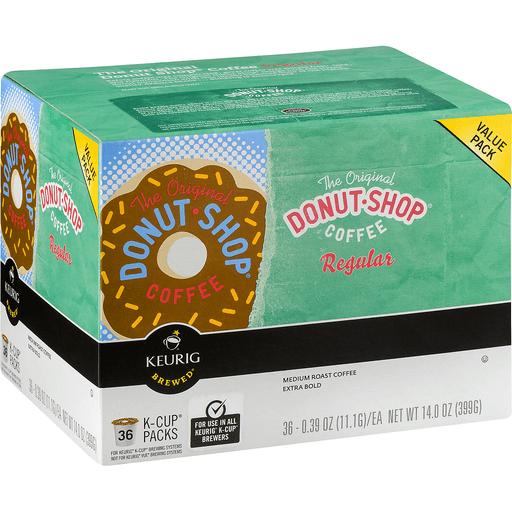 Donut Shop Keurig Hot Coffee, Medium Roast, The Original Donut Shop Regular, K-Cup Pods