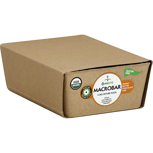 GoMacro Macrobar, Peanut Butter Chocolate Chip, Protein Pleasure