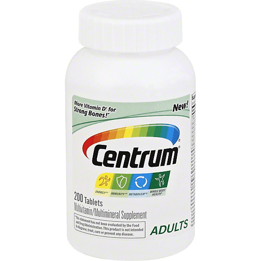 Centrum Multivitamin Multimineral Adults Tablets Vitamins Supplements Sendik S Food Market