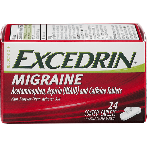 Excedrin Migraine Pain Reliever/Pain Reliever Aid, Caplets