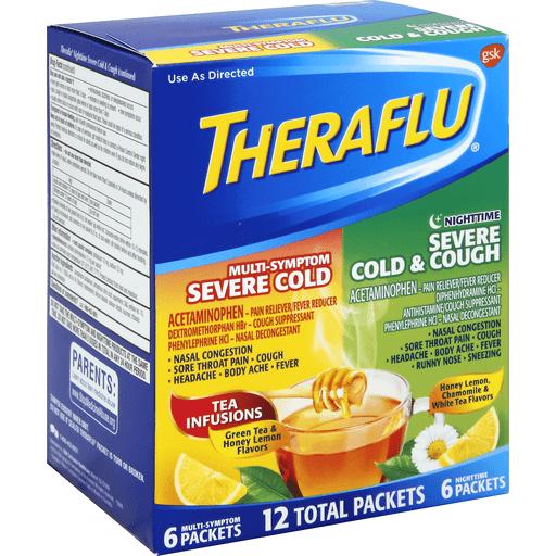 Theraflu Multi Symptom Severe Cold Nighttime Severe Cold Cough Packets