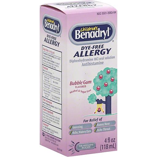 Benadryl Children S Allergy Dye Free Bubble Gum Flavored Shop Price Cutter