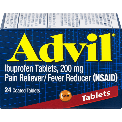 Advil Ibuprofen, 200 mg, Coated Tablets