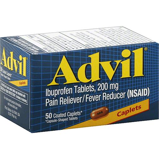 Advil Ibuprofen, 200 mg, Coated Caplets