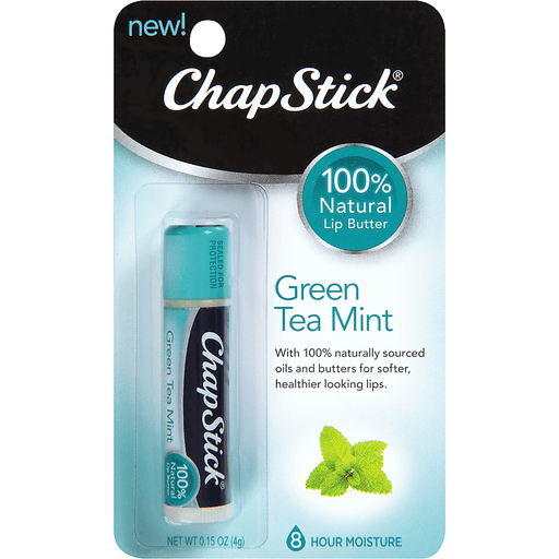ChapStick Lip Butter, 100% Natural, Green Tea Mint