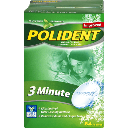 00310158053088 polident denture cleanser antibacterial 3 minute