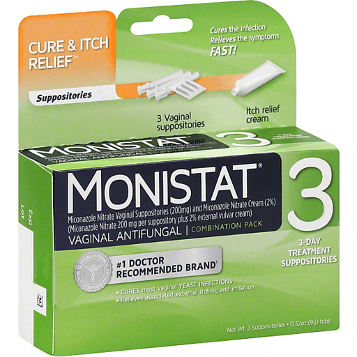 Monistat 3 Cure Itch Relief Vaginal Antifungal 3 Day Treatment