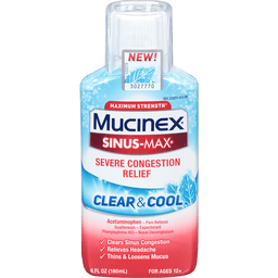 Mucinex Sinus-Max Severe Congestion Relief Clear Cool | Laurinburg