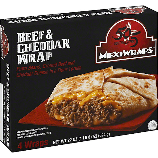 505 Southwestern Mexi Wraps Beef & Cheddar Wrap