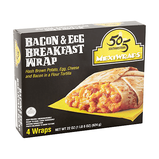 505 Bacon Hashbrown Egg and Cheese Mexiwrap
