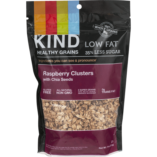 Kind Healthy Grains Clusters, Raspberry, with Chia Seeds