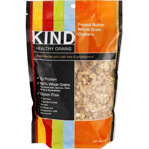 Kind Healthy Grains Clusters, Whole Grain, Peanut Butter