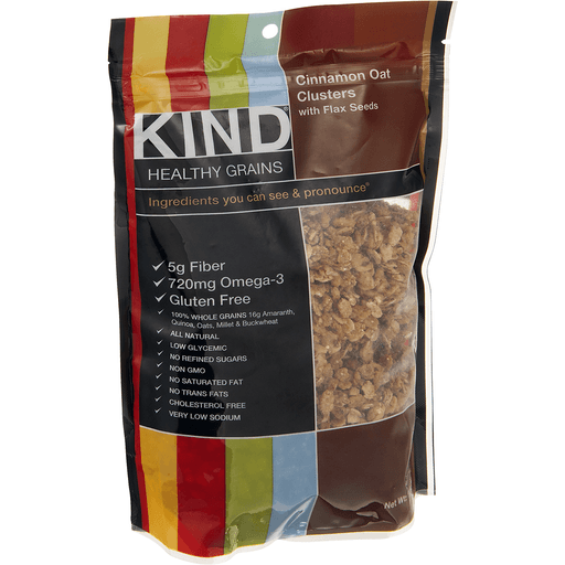 Kind Healthy Grains Clusters, Cinnamon Oat, with Flax Seeds