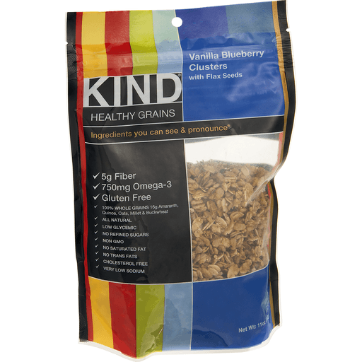 Kind Healthy Grains Clusters, Vanilla Blueberry, with Flax Seeds