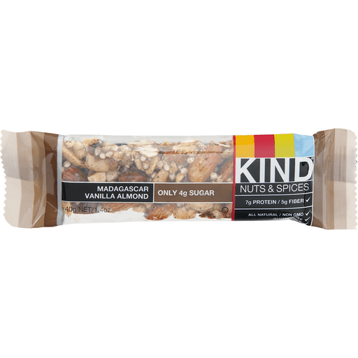 Kind Nuts & Spices Bar, Madagascar Vanilla Almond