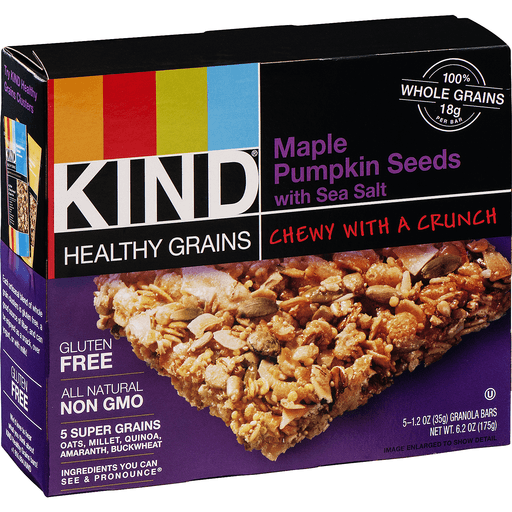 Kind Healthy Grains Granola Bars, Maple Pumpkin Seeds with Sea Salt
