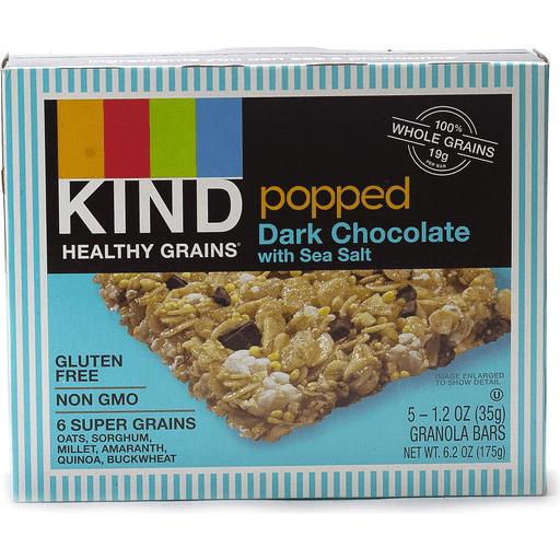 Kind Granola Bars, Popped, Dark Chocolate with Sea Salt