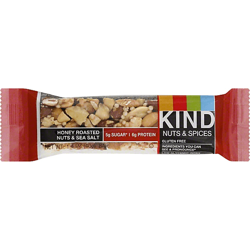 Kind Nuts & Spice Bar, Honey Roasted Nuts & Sea Salt