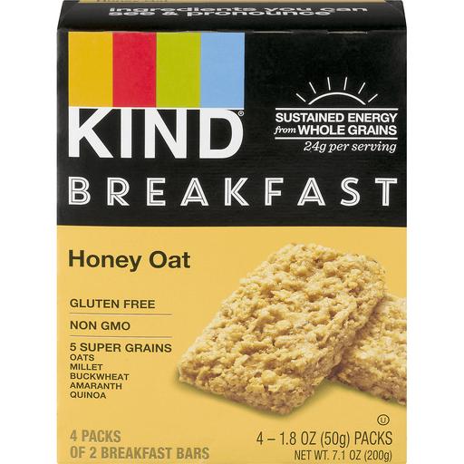 KIND Breakfast Bars Honey Oat - 4 CT