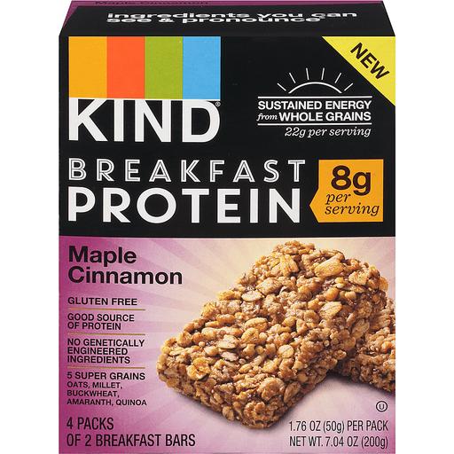 Kind Breakfast Protein Breakfast Bars, Maple Cinnamon