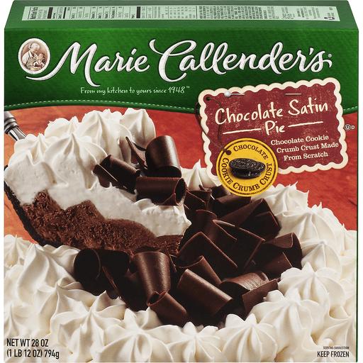Marie Callenders Pie, Chocolate Satin