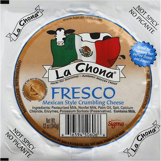 La Chona Fresco Mexican Style Crumbling Cheese 12 Oz Pack Shop Bevmo Así como la chona, de los tucanes de tijuana, conforman la lista de canciones. bevmo