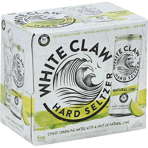 White Claw Hard Seltzer Natural Lime - 6 CT