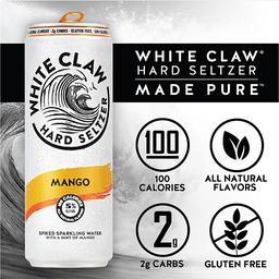 White Claw Hard Seltzer Mango Spiked Sparkling Water 6-12 ...