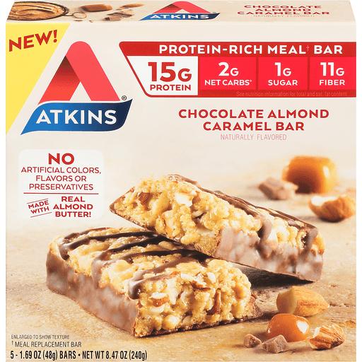 Atkins Meal Bar, Chocolate Almond Caramel