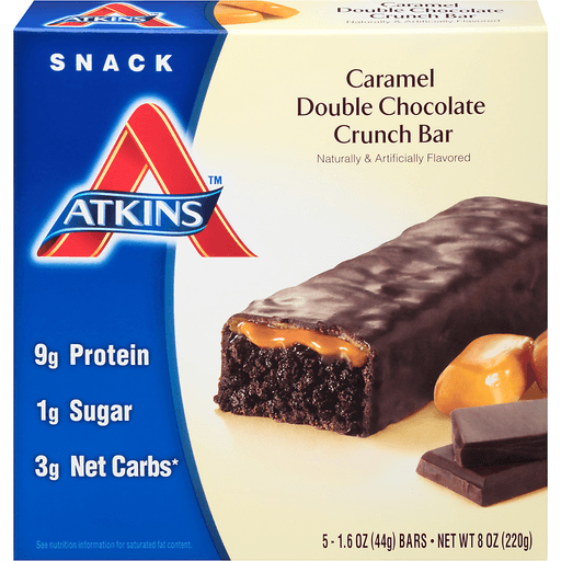 Atkins Snack Bars, Caramel Double Chocolate Crunch