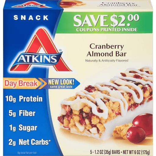 Atkins Cranberry Almond Bars
