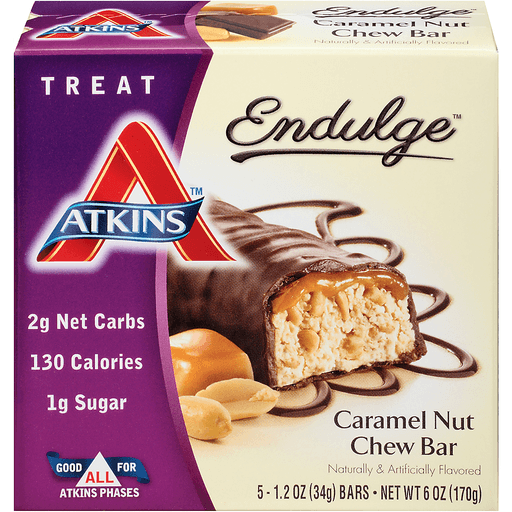 Atkins Endulge Chew Bar, Caramel Nut