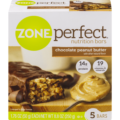 Zone Perfect Nutrition Bars, Chocolate Peanut Butter