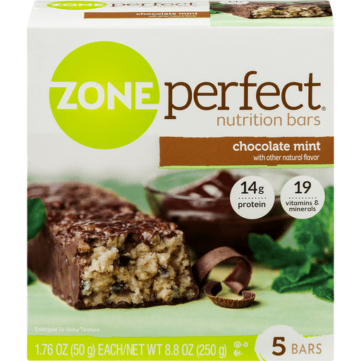 Zone Perfect Nutrition Bars, Chocolate Mint