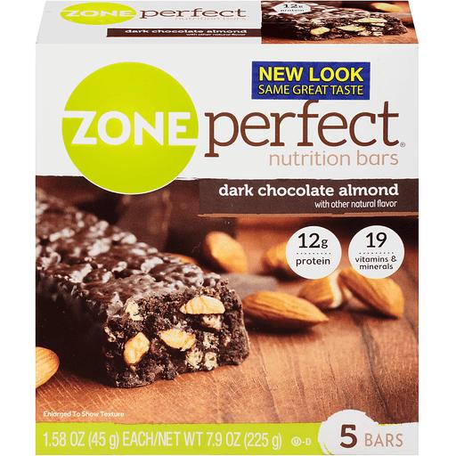 Zone Perfect Nutrition Bars, Dark Chocolate Almond